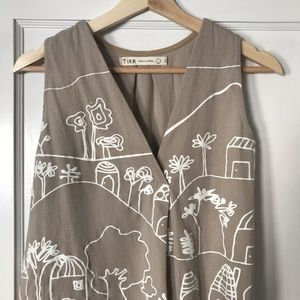 Tunic with printed fabric, handmade in Mexico.